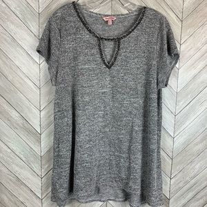 Juicy Couture charcoal gray blouse top